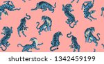 vector seamless pattern with... | Shutterstock .eps vector #1342459199