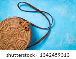 fashionable natural round...   Shutterstock . vector #1342459313