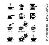 set of methods of brewing...   Shutterstock .eps vector #1342460423