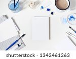 watercolor  blue oil  acrylic... | Shutterstock . vector #1342461263