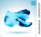 blue brush stroke and texture.... | Shutterstock .eps vector #1342465139