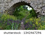 arched entrance to the fortress....   Shutterstock . vector #1342467296