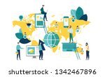 vector illustration a group of... | Shutterstock .eps vector #1342467896