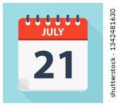 july 21   calendar icon  ... | Shutterstock .eps vector #1342481630