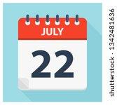 july 22   calendar icon  ... | Shutterstock .eps vector #1342481636