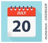 july 20   calendar icon  ... | Shutterstock .eps vector #1342481639