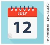 july 12   calendar icon  ... | Shutterstock .eps vector #1342481660