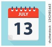 july 13   calendar icon  ... | Shutterstock .eps vector #1342481663