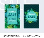 season sale poster with... | Shutterstock .eps vector #1342486949