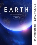 eath planet in space with... | Shutterstock .eps vector #1342492736