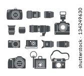 modern and retro photo technics ... | Shutterstock .eps vector #134249630