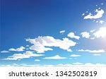 vector landscape sky clouds.... | Shutterstock .eps vector #1342502819