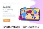 tiny people  marketer with...   Shutterstock .eps vector #1342505219