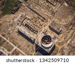 aerial top view of abandoned...   Shutterstock . vector #1342509710
