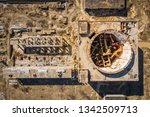 aerial top view of abandoned...   Shutterstock . vector #1342509713