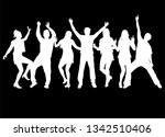 dancing people silhouettes.... | Shutterstock .eps vector #1342510406