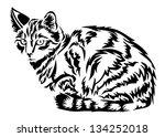 cat in vector | Shutterstock .eps vector #134252018