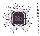 botanic illustration label with ... | Shutterstock .eps vector #1342522016
