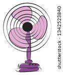 purple electric fan vector...   Shutterstock .eps vector #1342523840