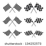 racing flags is an illustration ... | Shutterstock . vector #134252573