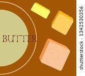 vector yellow stick of butter.... | Shutterstock .eps vector #1342530356