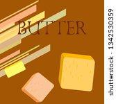 vector yellow stick of butter.... | Shutterstock .eps vector #1342530359