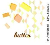 vector yellow stick of butter.... | Shutterstock .eps vector #1342530383
