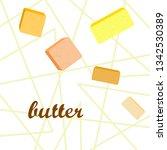 vector yellow stick of butter.... | Shutterstock .eps vector #1342530389