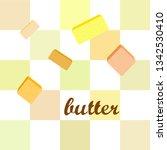 vector yellow stick of butter.... | Shutterstock .eps vector #1342530410