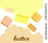 vector yellow stick of butter.... | Shutterstock .eps vector #1342530413