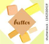 vector yellow stick of butter.... | Shutterstock .eps vector #1342530419