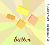 vector yellow stick of butter.... | Shutterstock .eps vector #1342530443