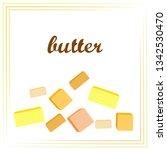 vector yellow stick of butter.... | Shutterstock .eps vector #1342530470