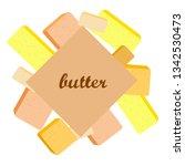 vector yellow stick of butter.... | Shutterstock .eps vector #1342530473
