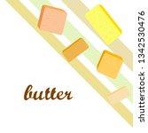 vector yellow stick of butter.... | Shutterstock .eps vector #1342530476