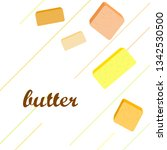 vector yellow stick of butter.... | Shutterstock .eps vector #1342530500