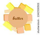 vector yellow stick of butter.... | Shutterstock .eps vector #1342530503