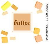 vector yellow stick of butter.... | Shutterstock .eps vector #1342530509