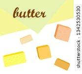 vector yellow stick of butter.... | Shutterstock .eps vector #1342530530