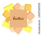vector yellow stick of butter.... | Shutterstock .eps vector #1342530533