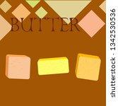 vector yellow stick of butter.... | Shutterstock .eps vector #1342530536