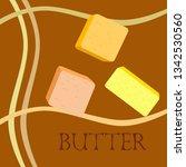 vector yellow stick of butter.... | Shutterstock .eps vector #1342530560