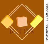 vector yellow stick of butter.... | Shutterstock .eps vector #1342530566