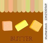 vector yellow stick of butter.... | Shutterstock .eps vector #1342530569