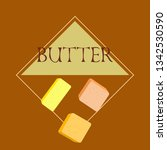 vector yellow stick of butter.... | Shutterstock .eps vector #1342530590