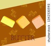 vector yellow stick of butter.... | Shutterstock .eps vector #1342530593