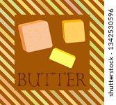 vector yellow stick of butter.... | Shutterstock .eps vector #1342530596