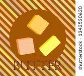 vector yellow stick of butter.... | Shutterstock .eps vector #1342530620