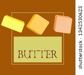 vector yellow stick of butter.... | Shutterstock .eps vector #1342530623