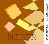 vector yellow stick of butter.... | Shutterstock .eps vector #1342530626